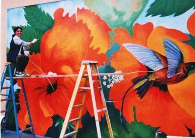 Hibiscus Mural